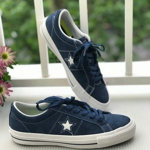 NWT Converse One Star Skate Navy Suede W AUTHENTIC NWT